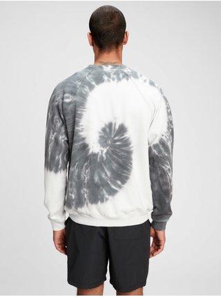 Barevná pánská mikina french terry tie-dye crewneck sweatshirt