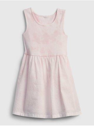 Růžové holčičí dětské šaty mix-media tank dress