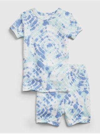 Modré klučičí dětské pyžamo organic cotton tie-dye pj set