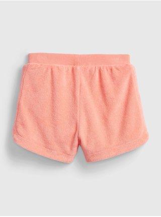 Oranžové holčičí dětské kraťasy terry short
