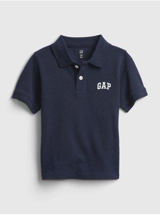 Modré klučičí dětské polo tričko GAP Logo solid