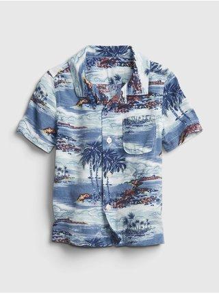 Modrá klučičí dětská košile shirt
