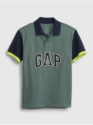 Zelené klučičí dětské polo tričko GAP Logo