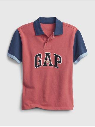 Červené klučičí dětské polo tričko GAP Logo