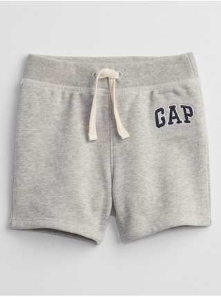 Šedé klučičí baby kraťasy GAP Logo pull-on shorts