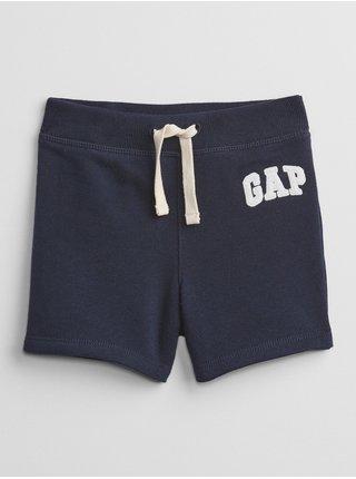 Modré klučičí baby kraťasy GAP Logo pull-on shorts