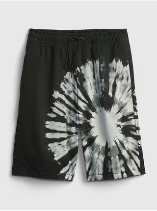 Černé klučičí dětské kraťasy quick dry shorts