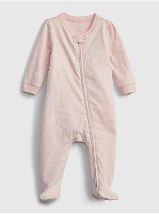 Béžový holčičí baby overal 100% organic cotton one-piece