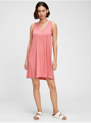 Červené dámské šaty GAP rayon swing