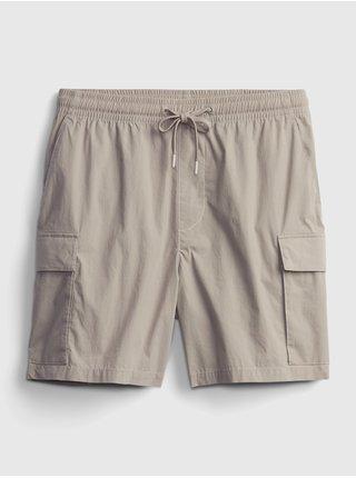 Šedé pánské kraťasy GAP Logo easy cargo shorts