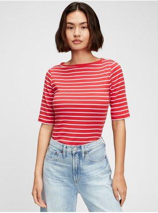 Červené dámské tričko GAP elb boatneck