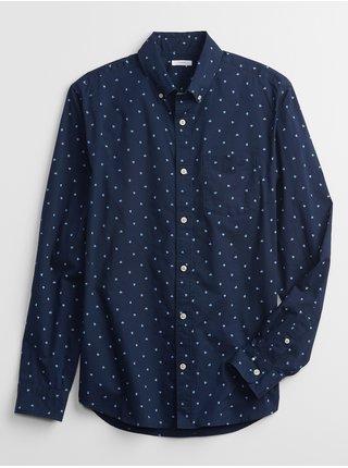 Modrá pánská košile long sleeve standard poplin