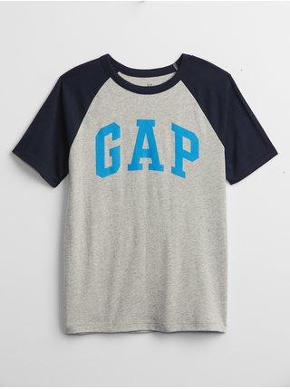 Šedé klučičí dětské tričko GAP Logo t-shirt