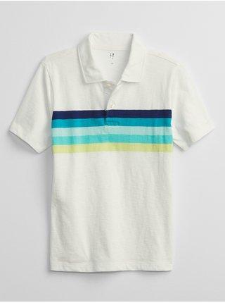 Béžové klučičí dětské polo tričko GAP stripe polo shirt