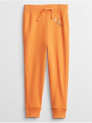 Oranžové klučičí dětské tepláky graphic joggers