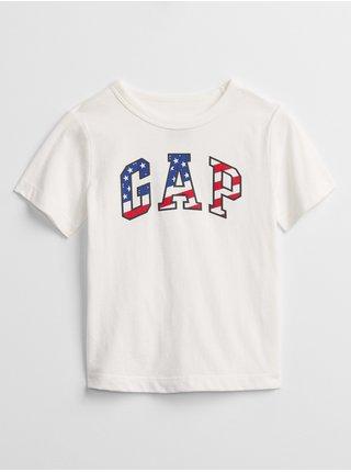 Bílé klučičí dětské tričko GAP Logo t-shirt