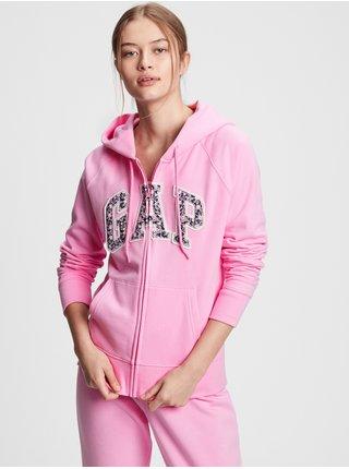 Růžová dámská mikina GAP Logoclassic novelty