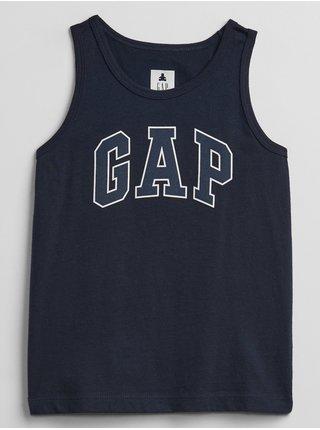 Modré klučičí dětské tílko GAP Logo tank top
