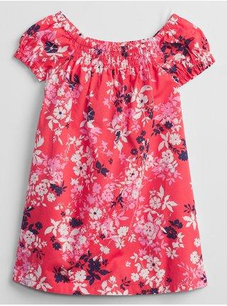 Růžové holčičí dětské šaty smocked floral swing dress