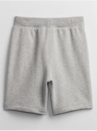 Šedé klučičí dětské kraťasy GAP Logo pull-on shorts
