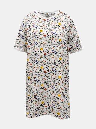 Bílá dámská vzorovaná noční košile FILA