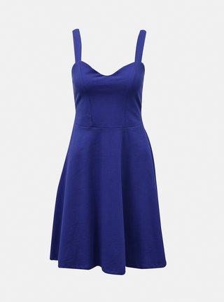 Modré šaty na ramienka Pieces Ang