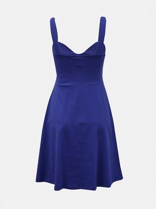 Modré šaty na ramínka Pieces Ang