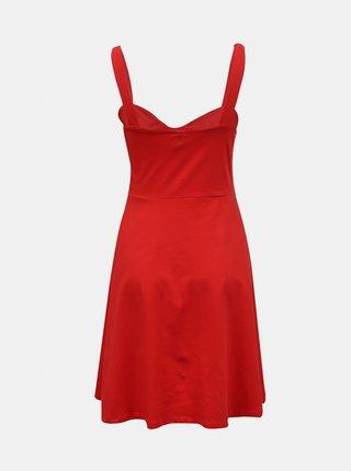 Červené šaty na ramínka Pieces Ang