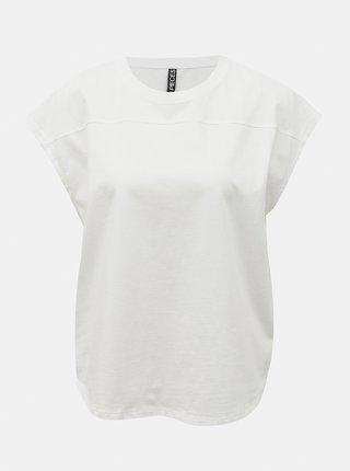 Bílé volné tričko Pieces Lotio