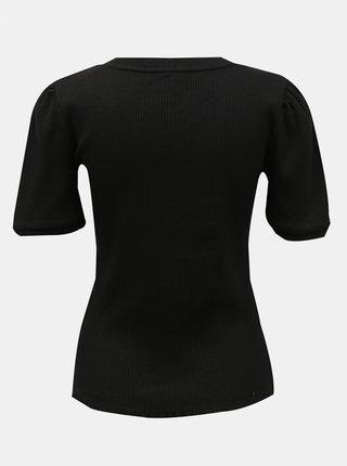 Černé tričko Pieces Luca