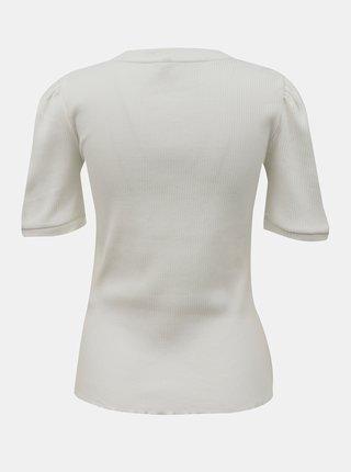 Krémové tričko Pieces Luca