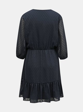 Tmavě modré vzorované zavinovací šaty Jacqueline de Yong Emilia
