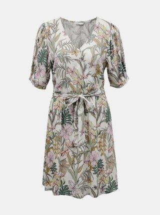 Letné a plážové šaty pre ženy ONLY - biela, zelená