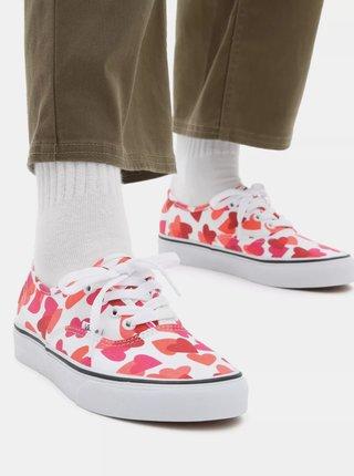 Růžovo-bílé dámské vzorované tenisky VANS