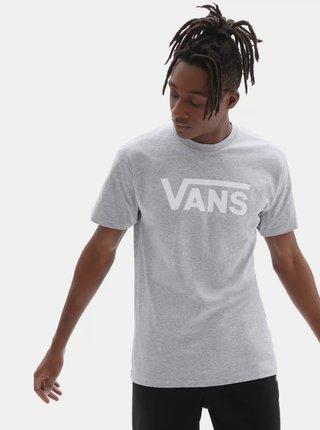 Šedé pánske tričko s potlačou VANS