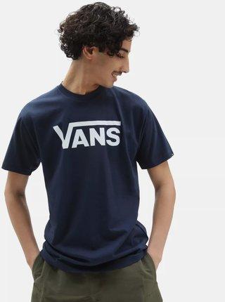 Tmavě modré pánské tričko s potiskem VANS