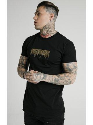 Pánské černé tričko-TEE CREEP RHINESTONE