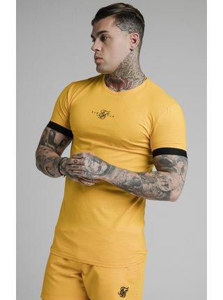 Pánské žluté tričko- TEE GYM CUFF ELASTIC INSET