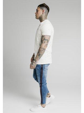 Pánské modré džíny- DENIMS STRIPE VELOUR SKINNY