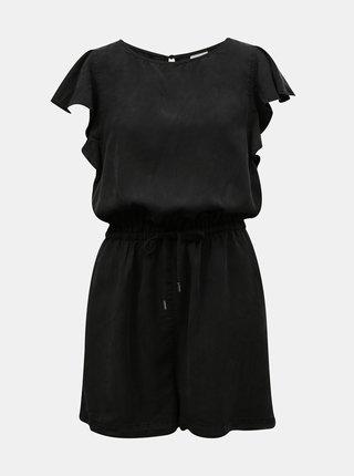 Černý krátký overal se zavazováním VILA Isabel