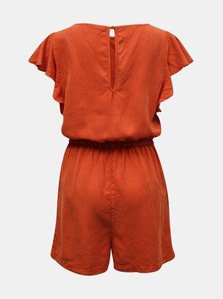 Oranžový krátký overal se zavazováním VILA Isabel