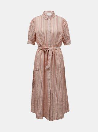 Letné a plážové šaty pre ženy VILA - krémová, oranžová