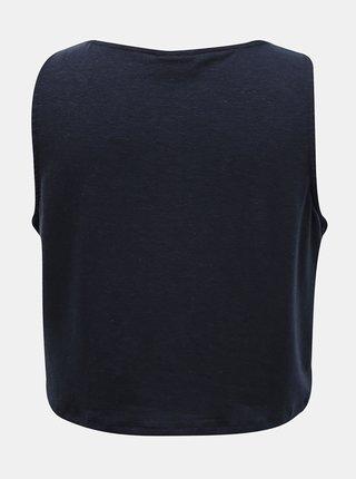 Tmavě modrý krátký top se zavazováním VILA Anika