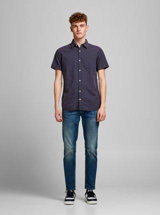 Tmavě modrá vzorovaná košile Jack & Jones Rabel