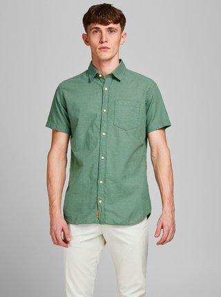 Zelená vzorovaná košile Jack & Jones Rabel