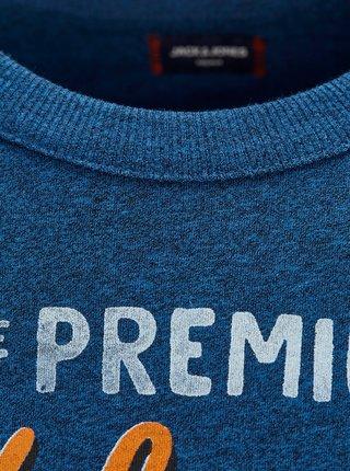 Modré tričko s potlačou Jack & Jones Preston