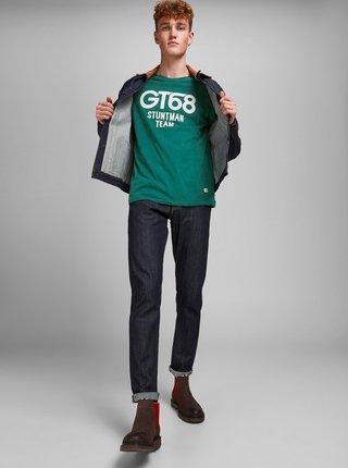 Zelené tričko s potiskem Jack & Jones Enrique