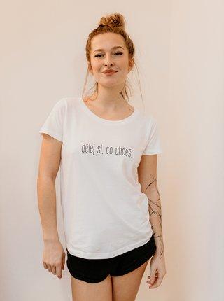 Bílé dámské tričko ZOOT Original Dělej si, co chceš