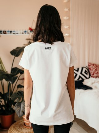 Tričká s krátkym rukávom pre ženy ZOOT Original - biela