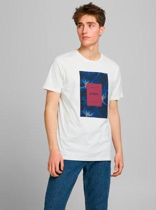 Krémové tričko s potlačou Jack & Jones Floral